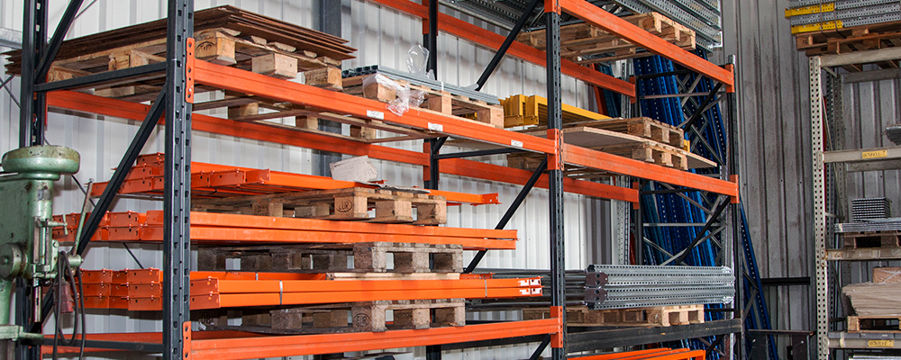 Regalsystem in der Halle - Dahlgaard & Co. GmbH